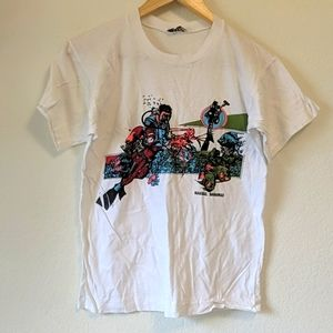 Vintage 80s single stitch scuba shirt